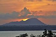 sunrise over a stupa in Anuradhapura Sri Lanka