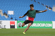 Ayumu Goromaru of Japan during the Japan Captain's Run training session in preparation for the Rugby World Cup at the American Express Community Stadium, Brighton and Hove, England on 18 September 2015.