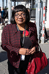 © Licensed to London News Pictures . 21/09/2019. Brighton, UK. DIANE ABBOTT leaves a meeting of the NEC at the Brighton Hilton Metropole ahead of the start of the first day of the 2019 Labour Party Conference from the Brighton Centre . Photo credit: Joel Goodman/LNP