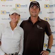 Allison Springer (USA) and Waylon Roberts (CAN) following CCI2* dressage at the 2017 PEDIGREE Bromont CCI3* Three Day Event, The Todd Sandler Challenge at the Bromont Olympic Equestrian Park in Bromont, Quebec.