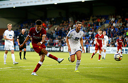Dominic Solanke of Liverpool fires a shot at goal - Mandatory by-line: Matt McNulty/JMP - 12/07/2017 - FOOTBALL - Prenton Park - Birkenhead, England - Tranmere Rovers v Liverpool - Pre-season friendly