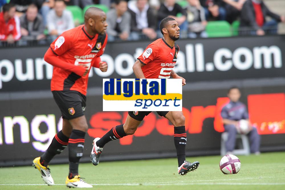 FOOTBALL - FRIENDLY GAMES 2011/2012 - STADE RENNAIS v FC SOCHAUX - 20/07/2011 - PHOTO PASCAL ALLEE / DPPI - JEAN ARMEL KANA BIYIK AND YANN MVILA (REN)