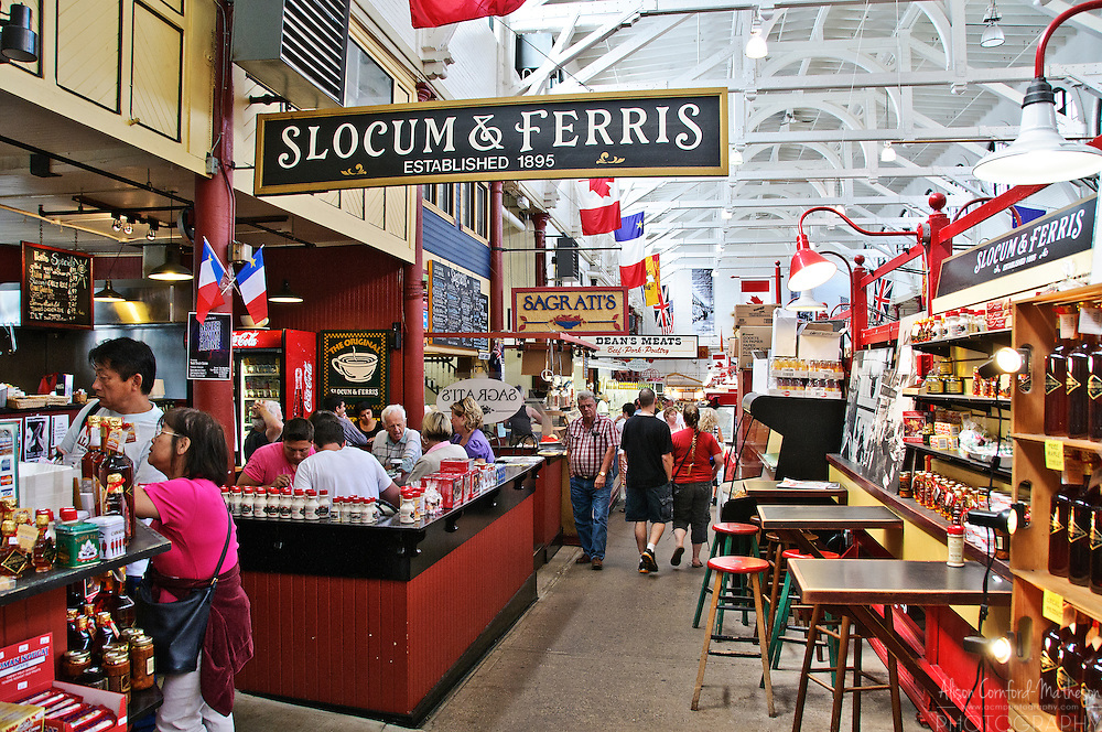 The Saint John City Market in New Brunswick, is the oldest farmer's market in Canada. Its architecture resembles that of an inverted ship's keel.
