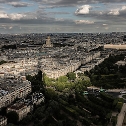 Paris panorama from the top of Eiffel tower.