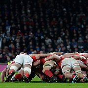 10.02.2018 NatWest Six Nations International Rugby England Vs Wales at RFU Twickenham Stadium UK        <br /> Action during the match won by England 12-6