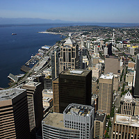 City view from the Columbia building over looking Seattle, Washington.Melanie Maxwell