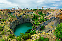 The Big Hole, an open-pit and underground diamond mine, Kimberley, South Africa.