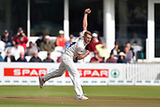 Jamie Porter of Essex opens the bowling during the Specsavers County Champ Div 1 match between Somerset County Cricket Club and Essex County Cricket Club at the Cooper Associates County Ground, Taunton, United Kingdom on 23 September 2019.