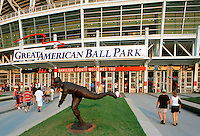 Joe Nuxhall Statue at the Great American Ball Park