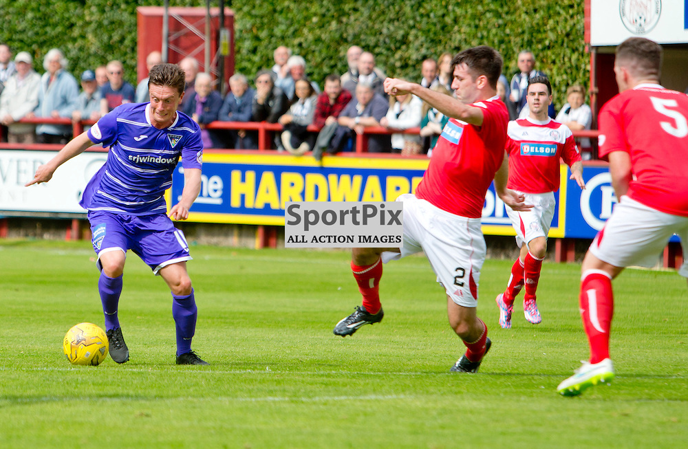 Brechin City v Dunfermline Athletic SPFL League One Season 2015/16 Glebe Park 08 August 2015<br /> Joe Cardle in action<br /> CRAIG BROWN | sportPix.org.uk
