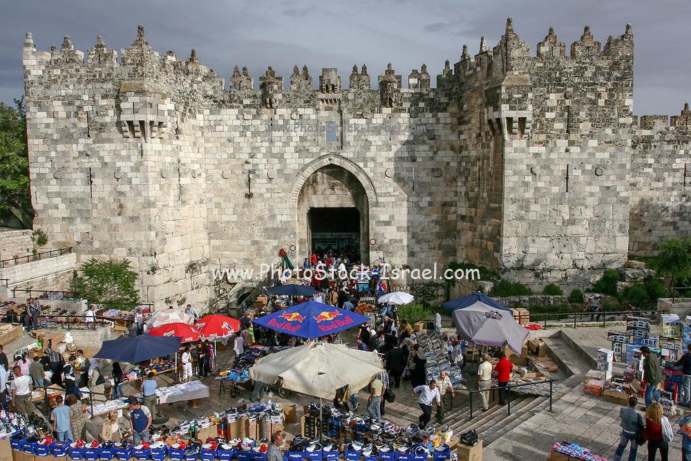 Israel, old city of Jerusalem, The Damascus Gate