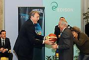 Milano 15 marzo 2010<br /> Basket Nazionale<br /> Conferenza stampa di presentazione dei programmi delle Nazionali<br /> Nella foto Dino Meneghin Umberto Quadrino<br /> Foto ciamillo