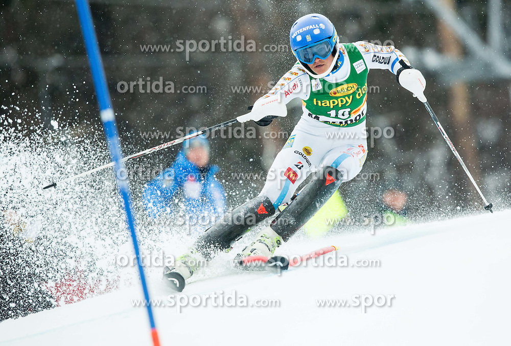 SWENN-LARSSON Anna (SWE) competes during the 1st Run of 7th Ladies' Slalom at 51st Golden Fox of Audi FIS Ski World Cup 2014/15, on February 22, 2015 in Pohorje, Maribor, Slovenia. Photo by Vid Ponikvar / Sportida