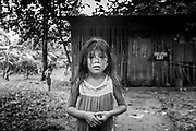 A young Indigenous girl from Ngäbe Bugle village of Salt Creek, Panama.