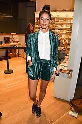 Vick Hope at The Philanthropist After Party held at The Mall Galleries, 17 Carlton House Terrace, London England. 20 April 2017.
