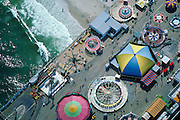 Aerial of the Casino Pier Amusement Park on the Jersey Shore ca 1987.