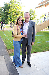 WILLIAM and VANESSA CASH at a party at the Serpentine Gallery, Kensington Gardens, London to unveil their summer Pavilion designed by Frank Gehry on 20th July 2008.<br /> <br /> NON EXCLUSIVE - WORLD RIGHTS