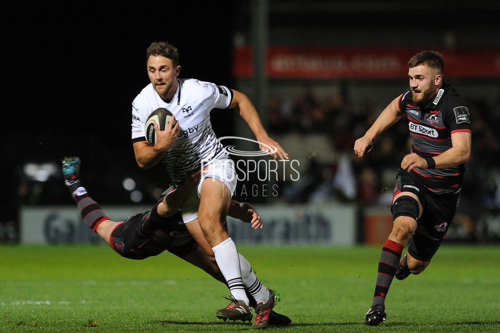 Ashley Beck on the break during the Guinness Pro 14 2017_18 match between Edinburgh Rugby and Ospreys at Myreside Stadium, Edinburgh, Scotland on 4 November 2017. Photo by Kevin Murray.