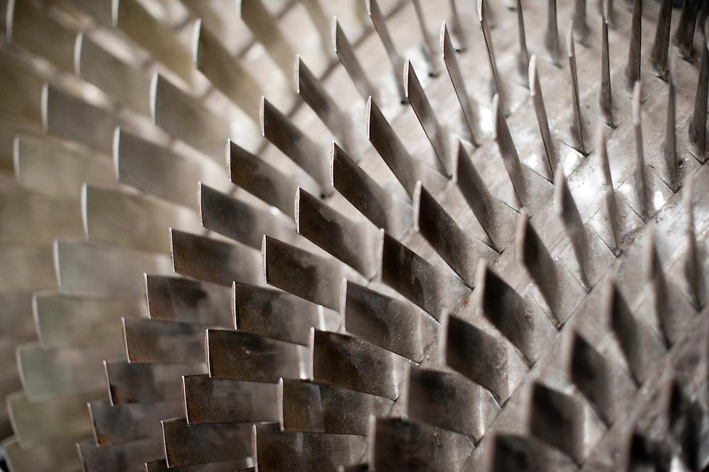 Jet engine turbine blades (detail)
