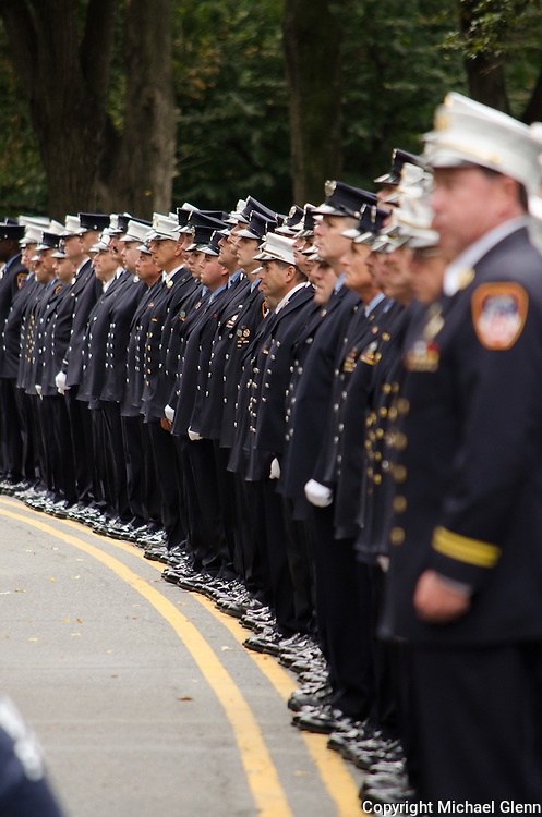 FDNY Fire and EMS gather at the 2013 Firemans Memorial at Riverside Drive and West 100th St