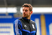 Birmingham City forward Lukas Jutkiewicz (10) ahead of the EFL Sky Bet Championship match between Reading and Birmingham City at the Madejski Stadium, Reading, England on 7 December 2019.
