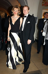 The EARL & COUNTESS OF DERBY at a private dinner to unveil the Van Cleef & Arpels jewellery collection 'Couture' with fashion by Anouska Hempel Couture held at The Banqueting House, Whitehall Palace, London on 8th March 2005.<br />