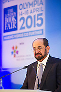 Sheikh Sultan al-Qasimi - London Book Fair, Olympia, London, UK, 14 Apr 2015.