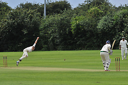 ROTHWELLS BOWLER DEAN SPREADBURY  ROTHWELL CRICKET CLUB v  NORTHAMPTON SAINTS  CC, Desborough  Road Rothwell  Saturday 25th June 2016