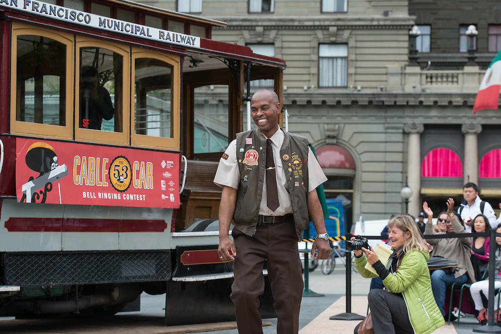 Cable Car Operator Byron Cobb Performs at the 53rd Annual Cable Car Bell Ringing Contest | July 7, 2016