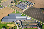 Nederland, Noord-Brabant, Gemeente Nederweert, 24-10-2013; complex van varkensboerderijen ten noorden van Nederweert.<br /> Complex of pig farms north of Nederweert.<br /> luchtfoto (toeslag op standaard tarieven);<br /> aerial photo (additional fee required);<br /> copyright foto/photo Siebe Swart.