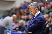 Eurocup 2015-2016 Last 32 Group N Dinamo Banco di Sardegna Sassari - Szolnoki Olaj <br /> GIOCATORE : Marco Calvani<br /> CATEGORIA : Ritratto Allenatore Coach Before Pregame<br /> SQUADRA : Dinamo Banco di Sardegna Sassari<br /> EVENTO : Eurocup 2015-2016 GARA : Dinamo Banco di Sardegna Sassari - Szolnoki Olaj <br /> DATA : 03/02/2016 <br /> SPORT : Pallacanestro <br /> AUTORE : Agenzia Ciamillo-Castoria/C.Atzori
