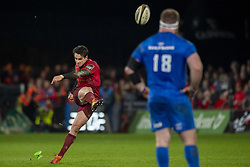 December 30, 2018 - Limerick, Ireland - Joey Carbery of Munster kicks a penalty during the Guinness PRO14 match between Munster Rugby and Leinster Rugby at Thomond Park in Limerick, Ireland on December 29, 2018  (Credit Image: © Andrew Surma/NurPhoto via ZUMA Press)