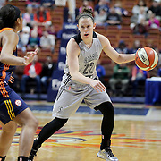 UNCASVILLE, CONNECTICUT- MAY 05:  Samantha Logic #22 of the San Antonio Stars during the San Antonio Stars Vs Connecticut Sun preseason WNBA game at Mohegan Sun Arena on May 05, 2016 in Uncasville, Connecticut. (Photo by Tim Clayton/Corbis via Getty Images)