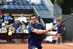 May 22, 2018 - Lyon, France - GUILERMIN GARCIA LOPEZ DURING THE MATCH FOR  ATP 250 IN LYON 22.05.2018 (Credit Image: © Panoramic via ZUMA Press)