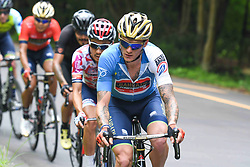 May 26, 2018 - Izu, Shizuoka, Japan - Slovenian rider Grega Bole (Bahrain-Merida) in action leading a five men breakaway during Izu stage, 120.8km on Izu-Japan Cycle Sports Center Road Circuit, the seventh stage of Tour of Japan 2018. .On Saturday, May 26, 2018, in Izu, Shizuoka Prefecture, Japan. (Credit Image: © Artur Widak/NurPhoto via ZUMA Press)