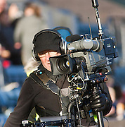 Steadicam man - Dundee v Kilmarnock, William Hill Scottish FA Cup 4th Round,..- © David Young - .5 Foundry Place - .Monifieth - .DD5 4BB - .Telephone 07765 252616 - .email; davidyoungphoto@gmail.com - .web; www.davidyoungphoto.co.uk.