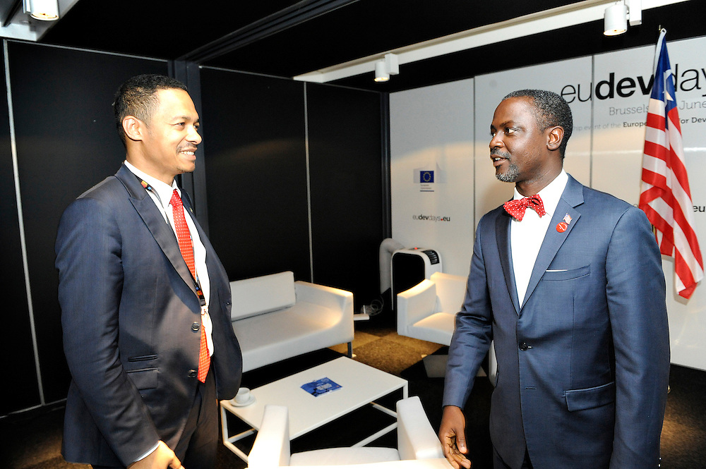 20150604- Brussels - Belgium - 04 June2015 - European Development Days - EDD  - <br /> Serguei Outtara President &amp; Executive Manager EU-Africa Chamber of Commerce and Axel Addy Minister  Liberia  &copy; EU/UE