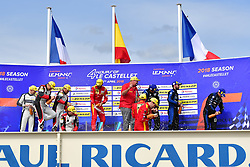 April 15, 2018 - Le Castellet, France - 24 RACING ENGINEERING (ESP) ORECA 07 GIBSON LMP2 NORMAN NATO (FRA) OLIVIER PLA (FRA) PAUL PETIT (FRA) WINNER LMP2  #33 TDS RACING (FRA) ORECA 07 GIBSON LMP2 MATTHIEUX VAXIVIERE (FRA) FRANCOIS PERRODO (FRA) LOIC DUVAL (FRA) SECOND PLACE LMP2 #29 DUQUEINE ENGINEERING (FRA) ORECA 07 GIBSON LMP2 PIERRE RAGUES (FRA) NICOLAS JAMIN (FRA) NELSON PANCIATICI (FRA) THIRD PLACE LMP2 (Credit Image: © Panoramic via ZUMA Press)