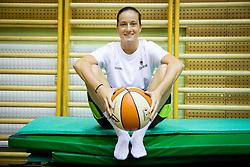 Nika Baric during practice session of Slovenian Women Basketball Team, on May 14, 2014 in Arena Vitranc, Kranjska Gora, Slovenia. Photo by Vid Ponikvar / Sportida