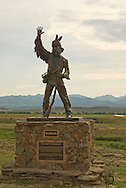 Crazy Mountains, Statue of Thunder Jack, depicting the mountain men of the Rocky Mountains by artist Gary Kerby north of Wilsall Montana