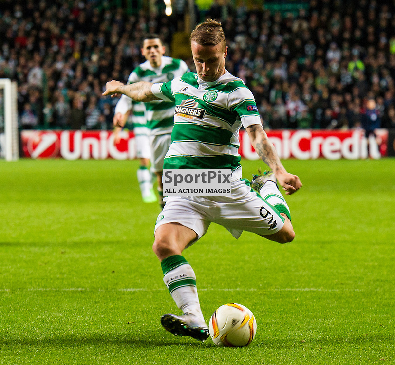 Leigh Griffiths prepares to let fly as Celtic host Ajax at Parkhead in the Europa League.<br /> &copy; Ger Harley/ SportPix.org.uk 26 November 2015