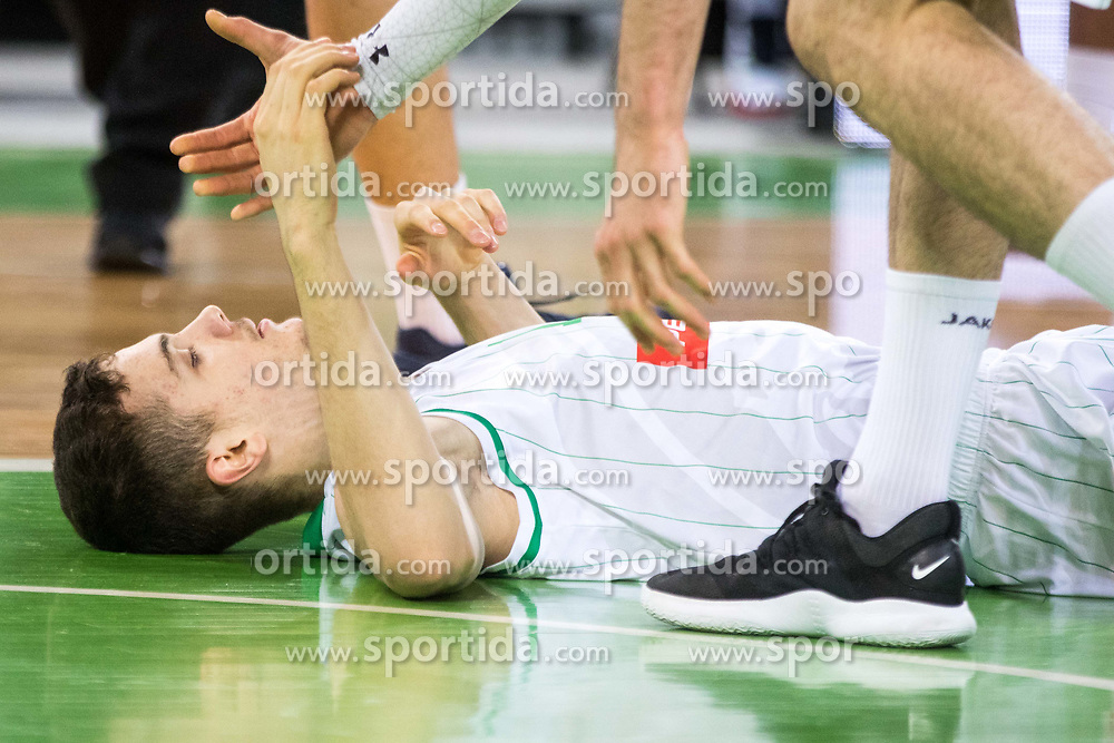 Marko Simonovic of Petrol Olimpija during 2nd leg basketball match between KK Petrol Olimpija and KK Rogaska in quarter final of  Pokal SPAR 2018/19, on January 14, 2019 in Arena Stozice, Ljubljana, Slovenia. Photo by Matic Ritonja / Sportida