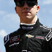 John Hunter Nemechek (42) gets ready to take the track to practice for the Spark Energy 300 at Talladega Superspeedway in Talladega, Alabama.