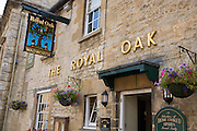 The Royal Oak inn traditional old gastro pub hotel in Burford in The Cotswolds, Oxfordshire, UK