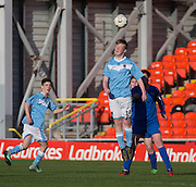 U16 Dundee United Cup Final (sponsored by Arab Trust) Monifieth High School (light blue and white) v Grove Academy (blue)  - Schools Cup Final at Tanandice<br /> <br />  - &copy; David Young - www.davidyoungphoto.co.uk - email: davidyoungphoto@gmail.com