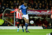Nottingham Forest player Sammy Ameobi wins the ball in attack during the first half during the EFL Sky Bet Championship match between Brentford and Nottingham Forest at Griffin Park, London, England on 28 January 2020.*** during the EFL Sky Bet Championship match between Brentford and Nottingham Forest at Griffin Park, London, England on 28 January 2020.