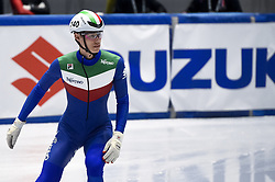 February 8, 2019 - Torino, Italia - Foto LaPresse/Nicolò Campo .8/02/2019 Torino (Italia) .Sport.ISU World Cup Short Track Torino - 500 meter Men Preliminaries.Nella foto: Marco Giordano..Photo LaPresse/Nicolò Campo .February 8, 2019 Turin (Italy) .Sport.ISU World Cup Short Track Turin - 500 meter Men Preliminaries.In the picture: Marco Giordano (Credit Image: © Nicolò Campo/Lapresse via ZUMA Press)