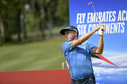 March 22, 2019 - Kuala Lumpur, Malaysia - David Lipsky of United States of America hits his tee-shot on the tenth hole on Day Two of the Maybank Championship at at Saujana Golf and Country Club on March 22, 2019 in Kuala Lumpur, Malaysia. (Credit Image: © Chris Jung/NurPhoto via ZUMA Press)