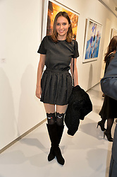 SASHA VOLKOVA at a private view of Dancing Away featuring work by Mikhail Baryshnikov held at ContiniArtUK, 105 New Bond Street, London on 27th November 2014.