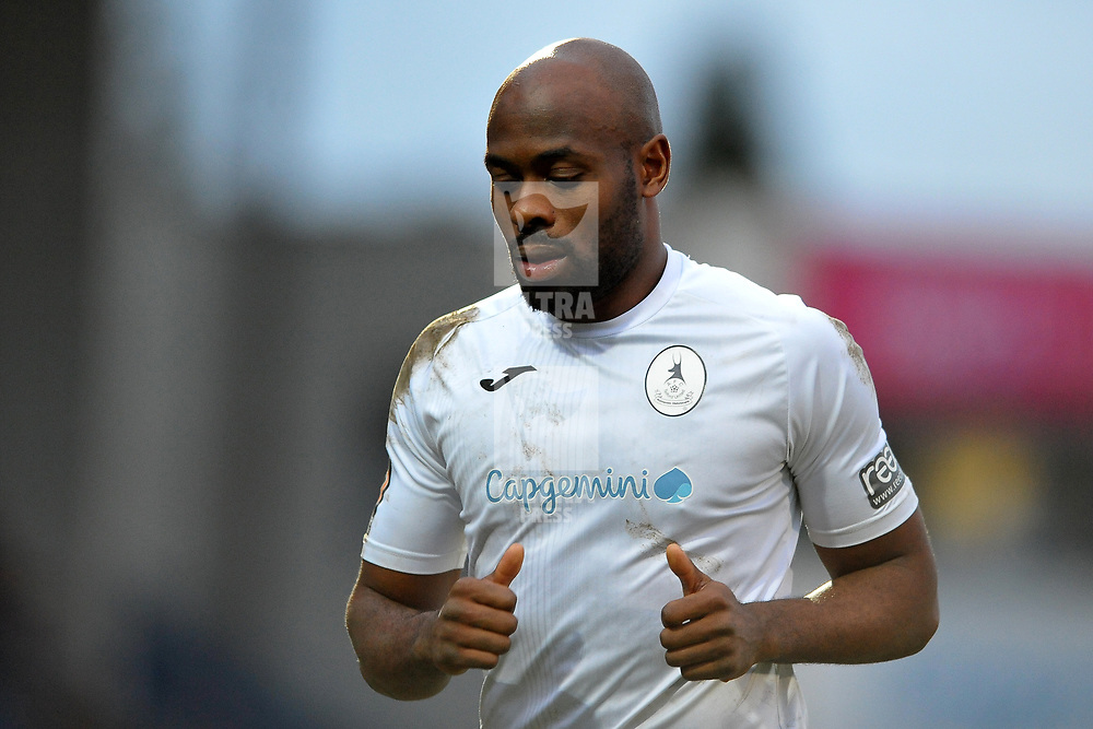 TELFORD COPYRIGHT MIKE SHERIDAN Theo Streete of Telford during the Vanarama Conference North fixture between AFC Telford United and Brackley Town at the New Bucks Head on Saturday, January 4, 2020.<br /> <br /> Picture credit: Mike Sheridan/Ultrapress<br /> <br /> MS201920-039